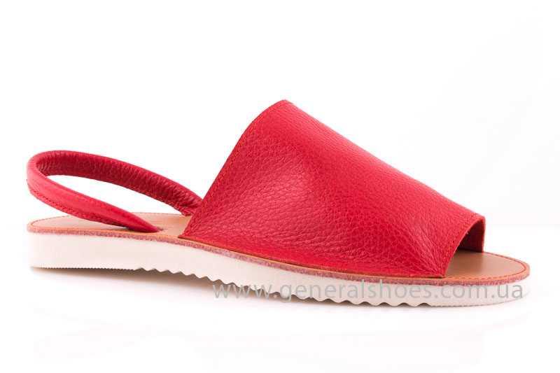 Женские кожаные сандалии 08 red фото 1