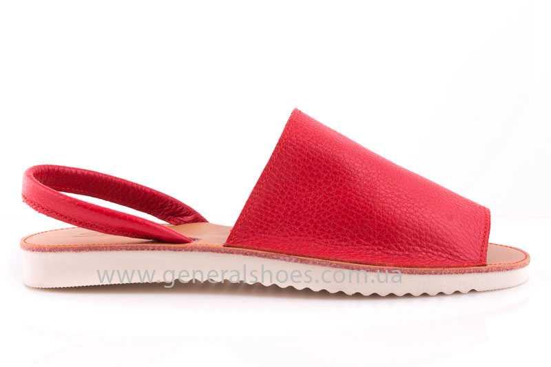 Женские кожаные сандалии 08 red фото 2