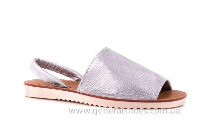 Женские кожаные сандалии 08 silver фото 1
