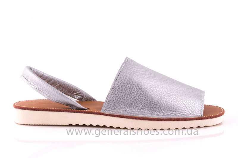 Женские кожаные сандалии 08 silver фото 2