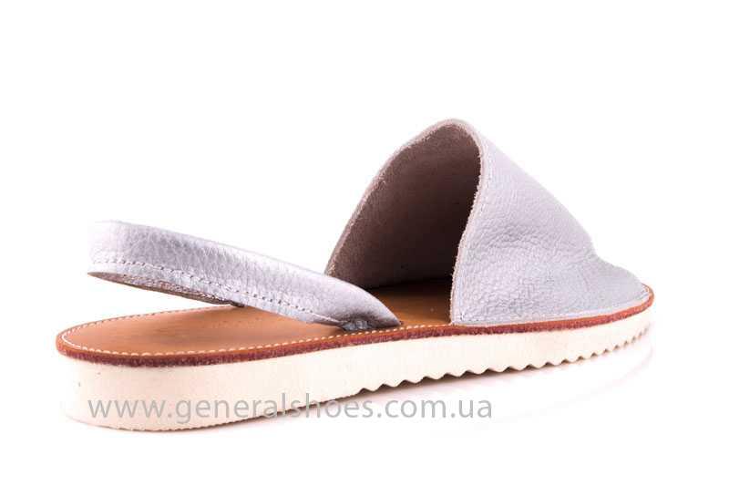 Женские кожаные сандалии 08 silver фото 3