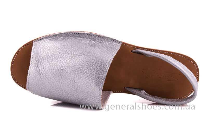 Женские кожаные сандалии 08 silver фото 4