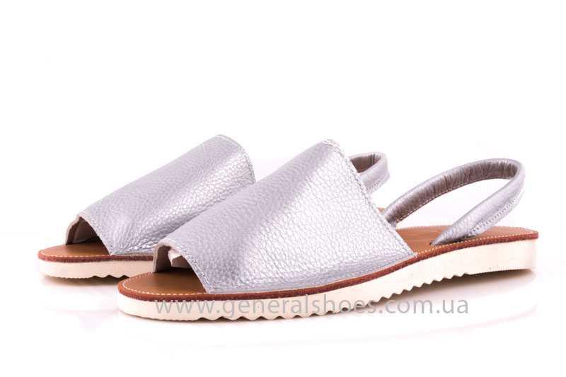 Женские кожаные сандалии 08 silver фото 5