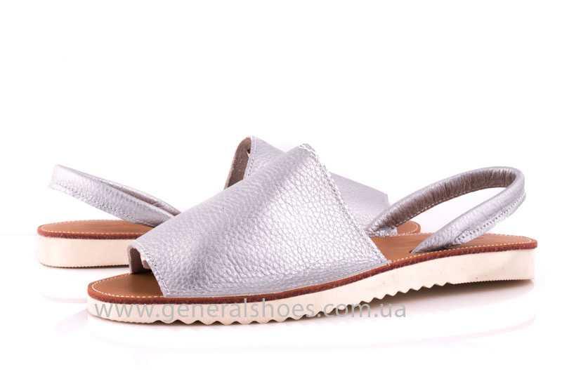 Женские кожаные сандалии 08 silver фото 6