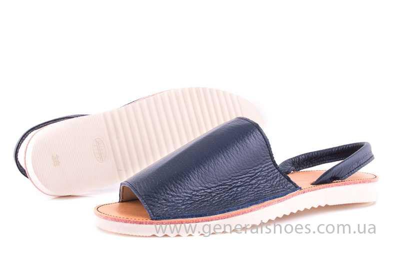 Женские кожаные сандалии Light blue фото 7