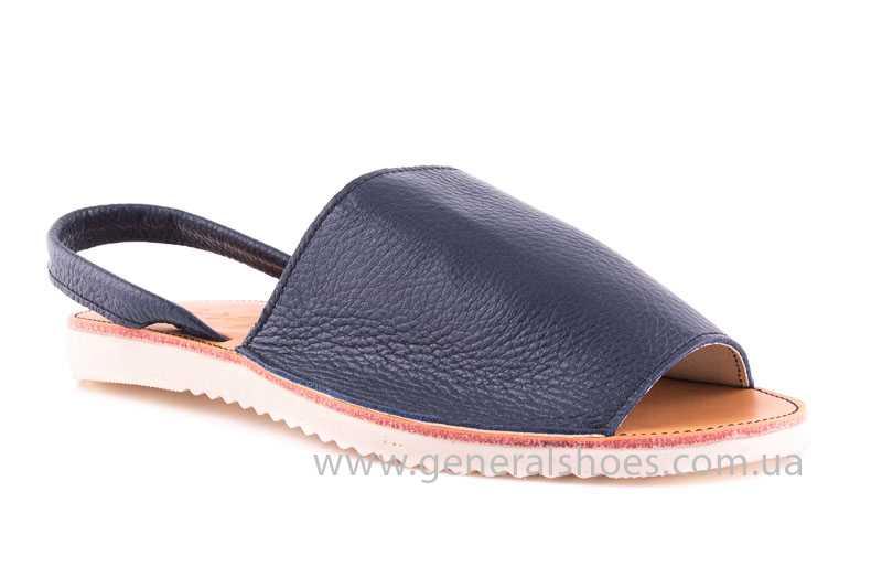 Женские кожаные сандалии Light blue фото 1