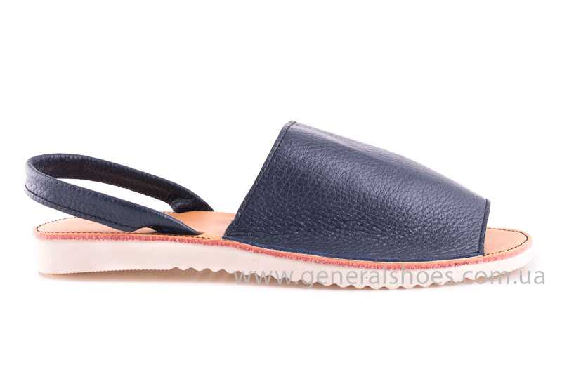 Женские кожаные сандалии Light blue фото 2