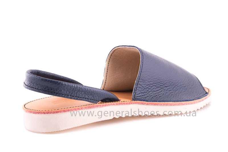 Женские кожаные сандалии Light blue фото 3
