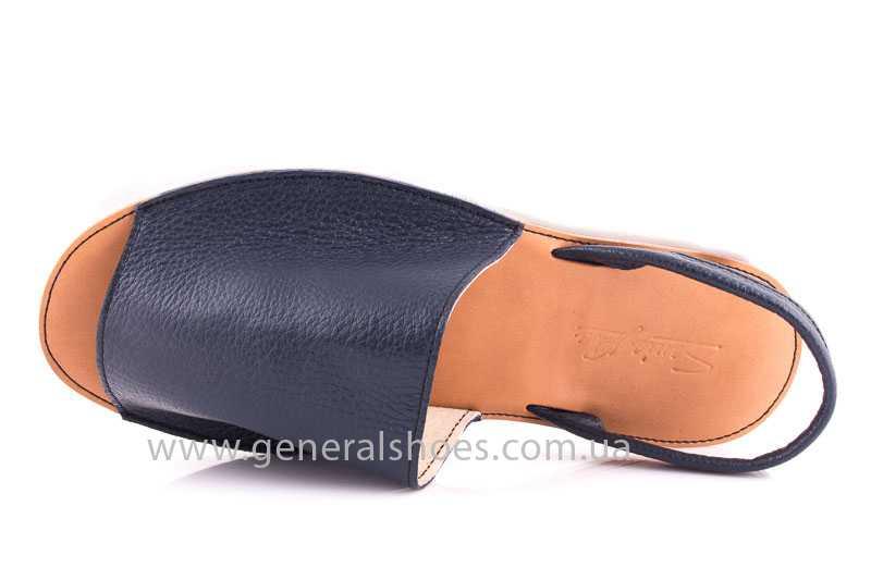 Женские кожаные сандалии Light blue фото 4