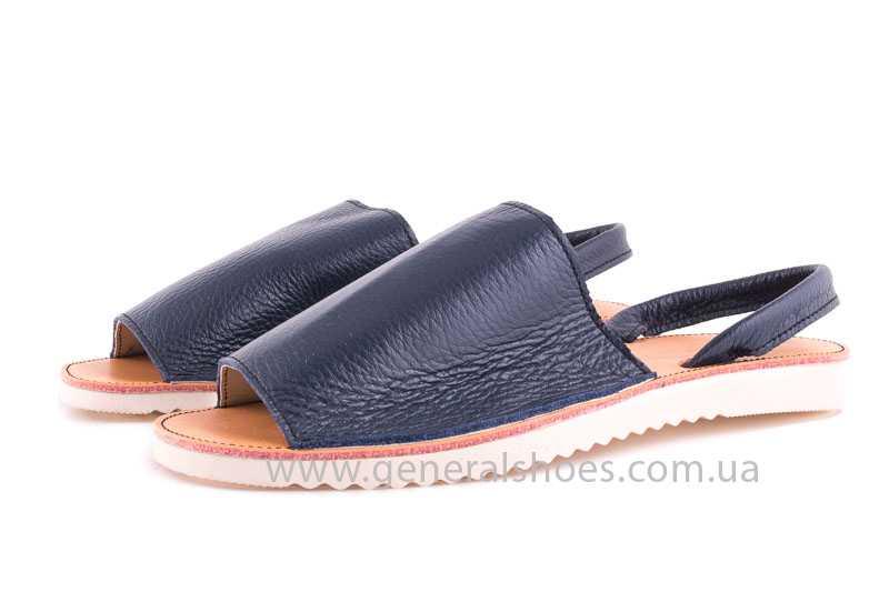 Женские кожаные сандалии Light blue фото 5