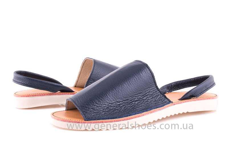 Женские кожаные сандалии Light blue фото 6