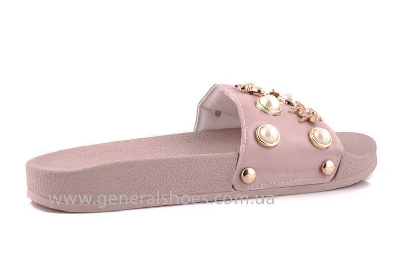 Женские кожаные шлепанцы Pearl pink фото 3