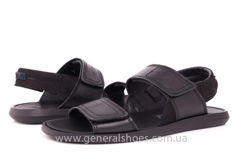 Мужские кожаные сандалии Ed-Ge S-3 blk фото 9