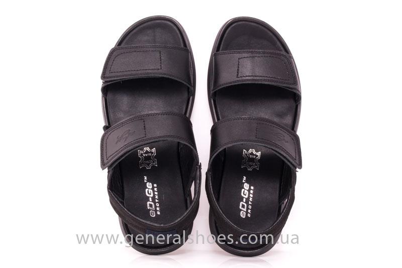 Мужские кожаные сандалии Ed-Ge S-3 blk фото 7