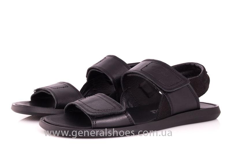 Мужские кожаные сандалии Ed-Ge S-3 blk фото 8