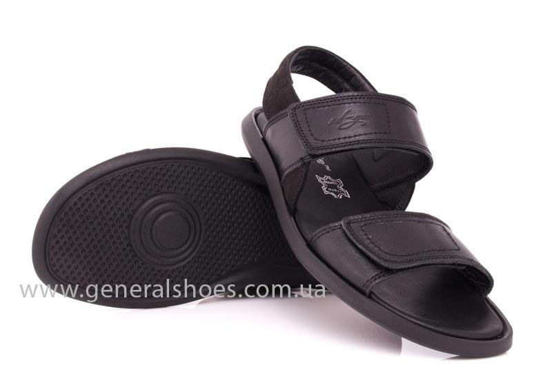 Мужские кожаные сандалии Ed-Ge S-3 blk фото 10