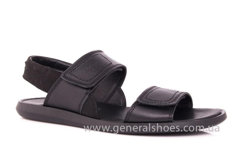 Мужские кожаные сандалии Ed-Ge S-3 blk фото 1
