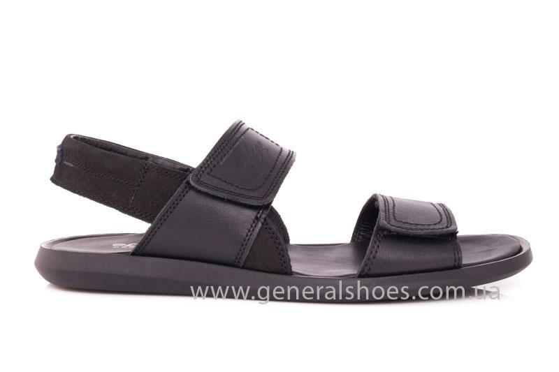 Мужские кожаные сандалии Ed-Ge S-3 blk фото 2