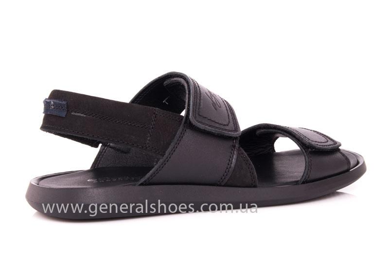 Мужские кожаные сандалии Ed-Ge S-3 blk фото 3