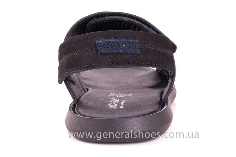 Мужские кожаные сандалии Ed-Ge S-3 blk фото 4