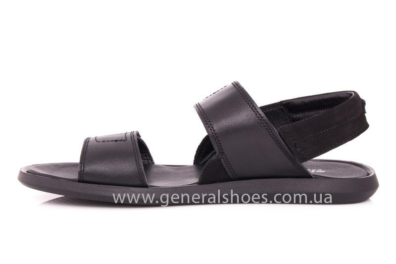Мужские кожаные сандалии Ed-Ge S-3 blk фото 5
