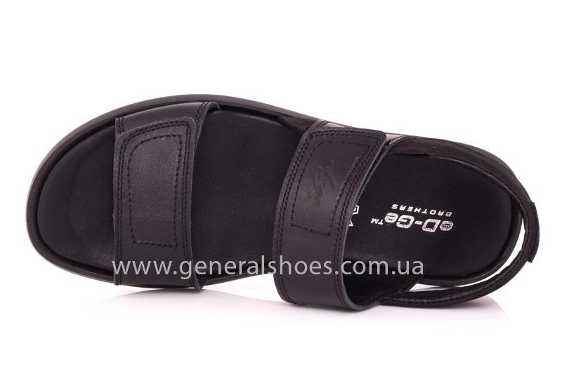 Мужские кожаные сандалии Ed-Ge S-3 blk фото 6