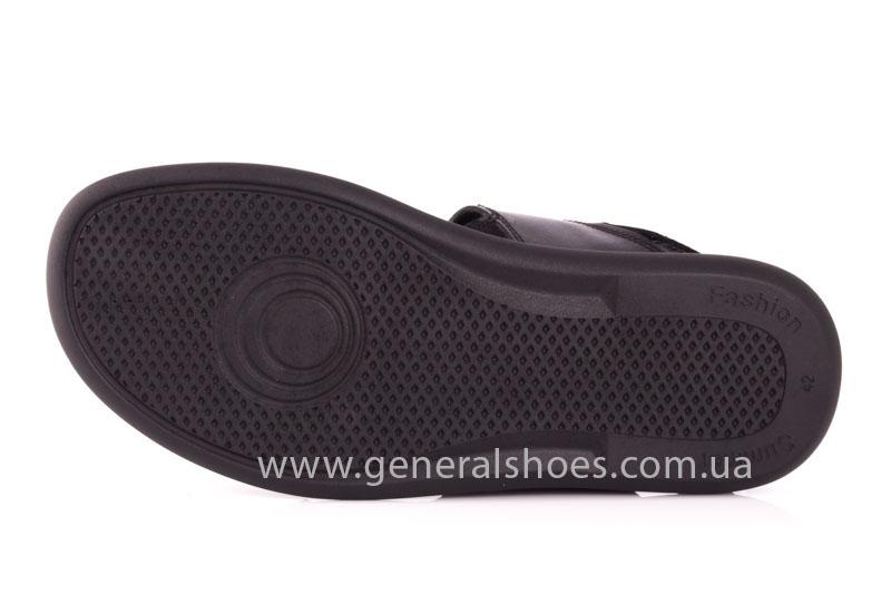 Мужские кожаные сандалии Ed-Ge S-3 blk фото 11