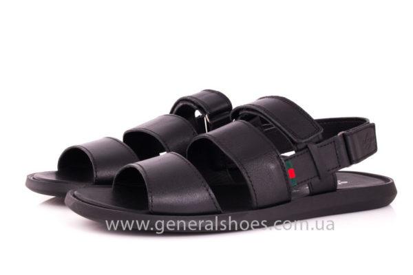 Мужские кожаные сандалии Ed-Ge S-4 blk фото 7