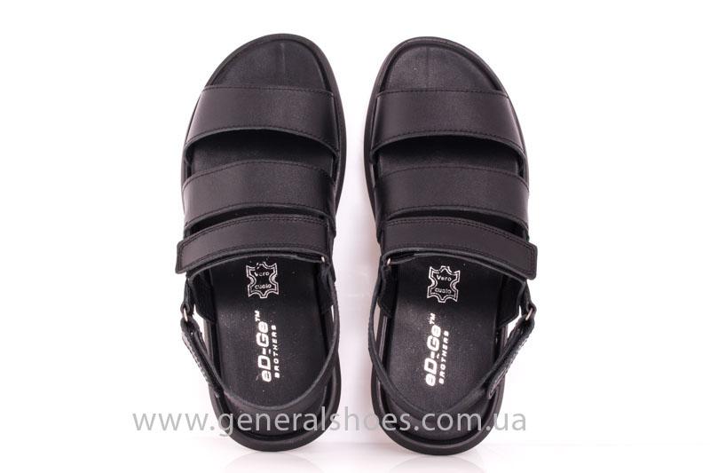Мужские кожаные сандалии Ed-Ge S-4 blk фото 10