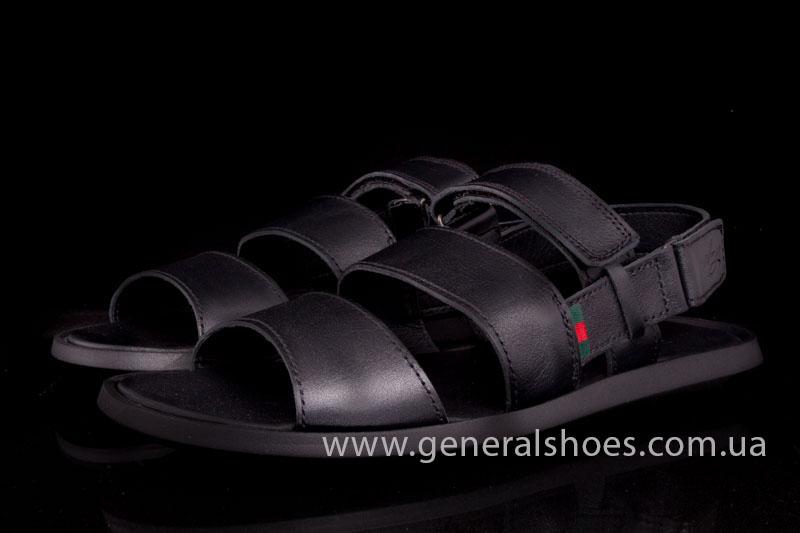 Мужские кожаные сандалии Ed-Ge S-4 blk фото 9