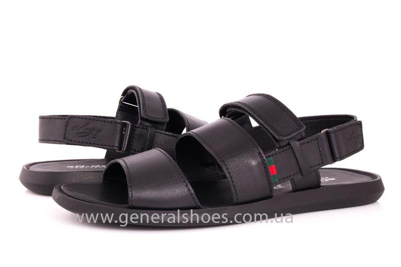 Мужские кожаные сандалии Ed-Ge S-4 blk фото 8