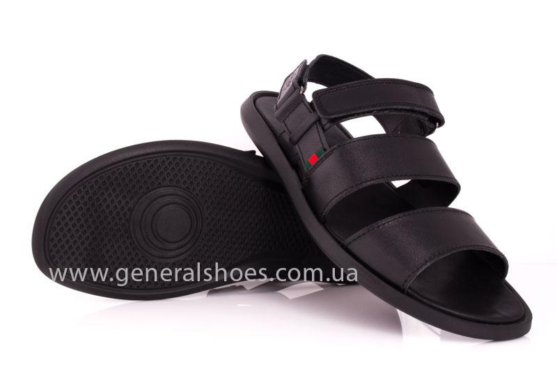 Мужские кожаные сандалии Ed-Ge S-4 blk фото 11