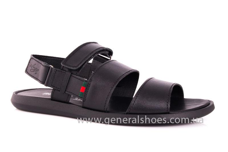 Мужские кожаные сандалии Ed-Ge S-4 blk фото 1
