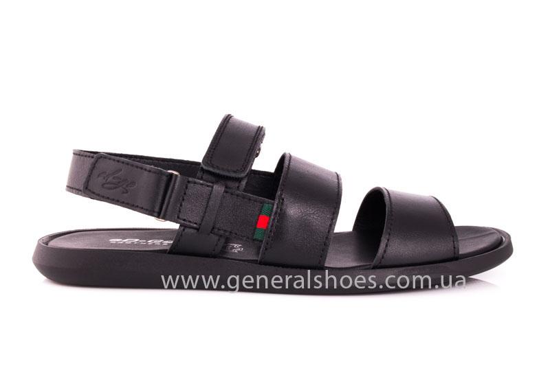 Мужские кожаные сандалии Ed-Ge S-4 blk фото 2