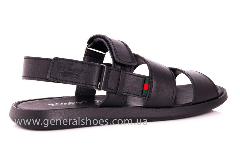 Мужские кожаные сандалии Ed-Ge S-4 blk фото 3