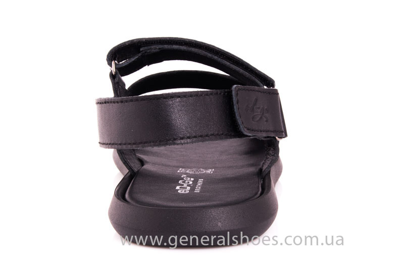 Мужские кожаные сандалии Ed-Ge S-4 blk фото 4