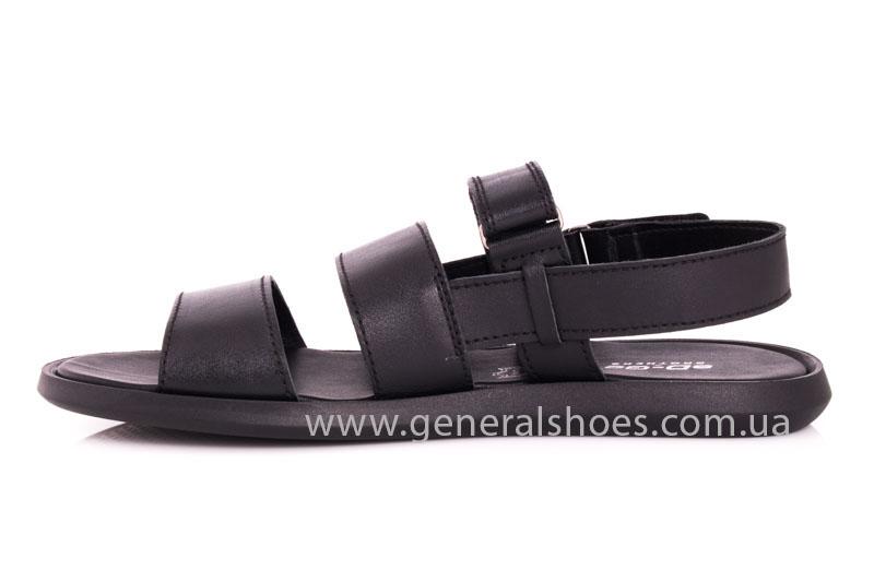 Мужские кожаные сандалии Ed-Ge S-4 blk фото 5