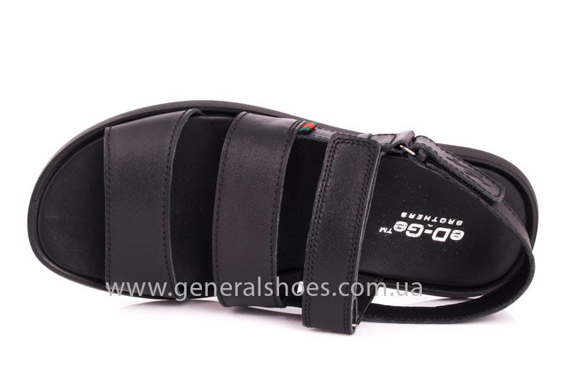 Мужские кожаные сандалии Ed-Ge S-4 blk фото 6
