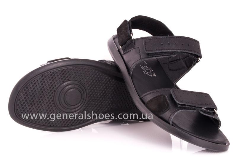 Мужские кожаные сандалии Ed-Ge S-5 blk фото 10