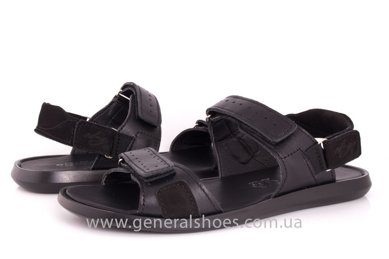 Мужские кожаные сандалии Ed-Ge S-5 blk фото 9