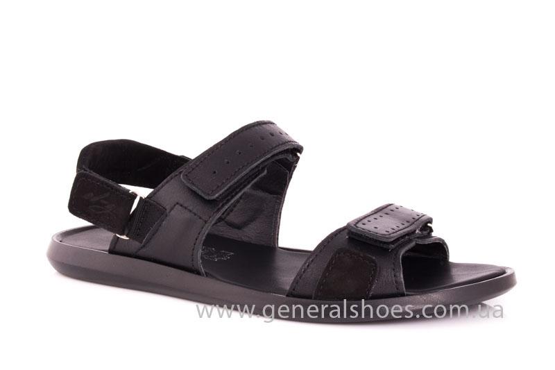 Мужские кожаные сандалии Ed-Ge S-5 blk фото 1