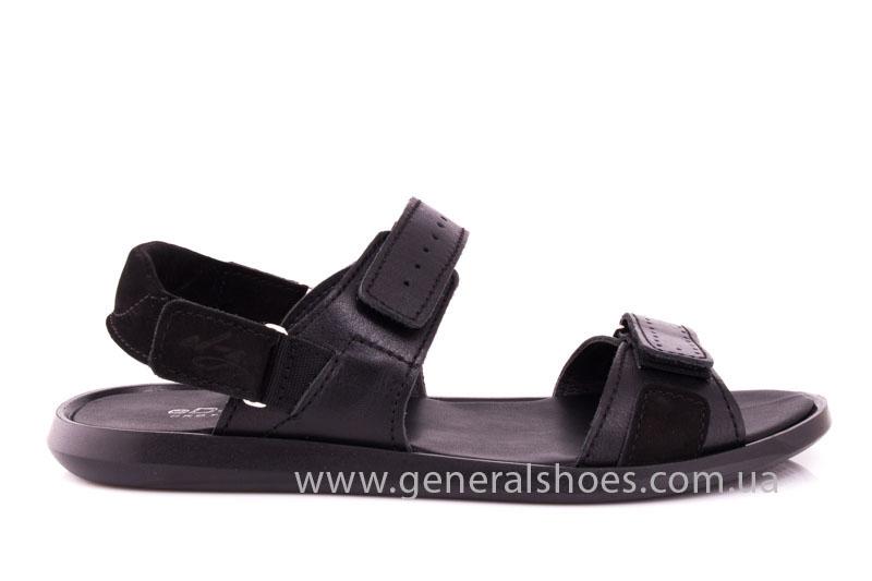 Мужские кожаные сандалии Ed-Ge S-5 blk фото 2