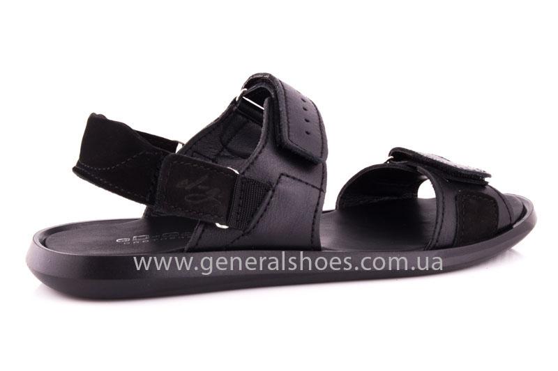 Мужские кожаные сандалии Ed-Ge S-5 blk фото 3
