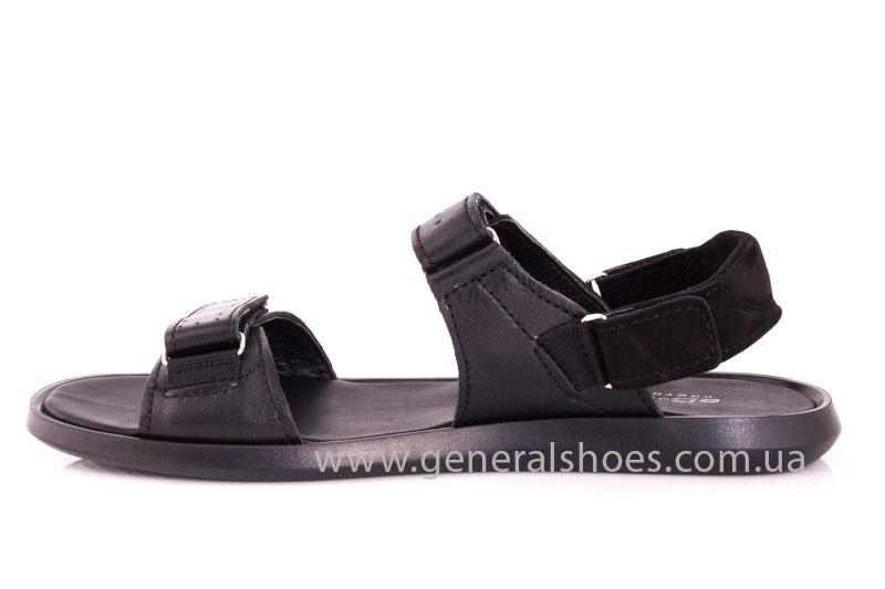 Мужские кожаные сандалии Ed-Ge S-5 blk фото 5
