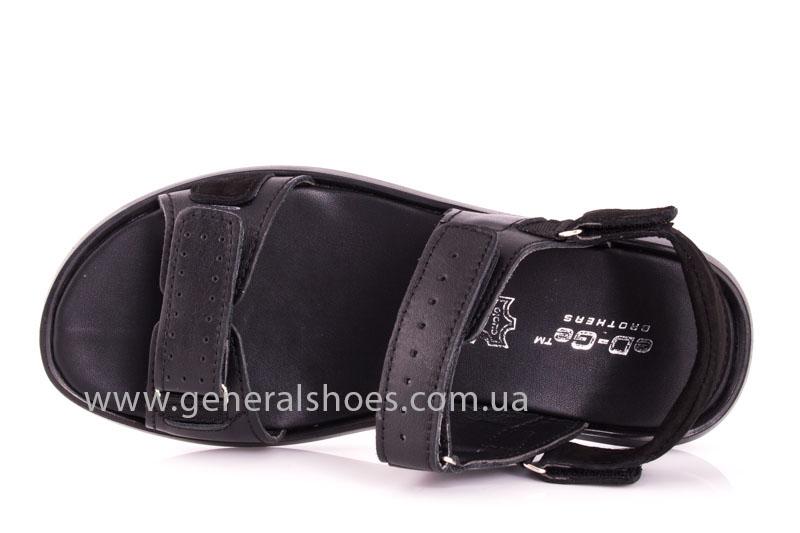 Мужские кожаные сандалии Ed-Ge S-5 blk фото 6