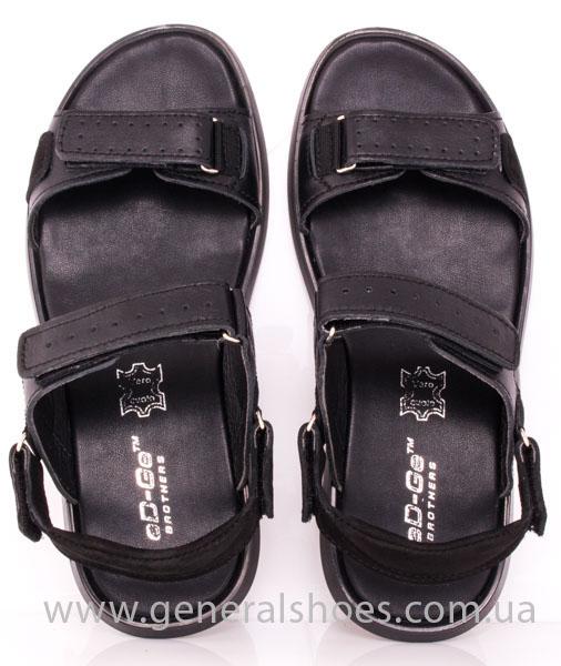 Мужские кожаные сандалии Ed-Ge S-5 blk фото 7