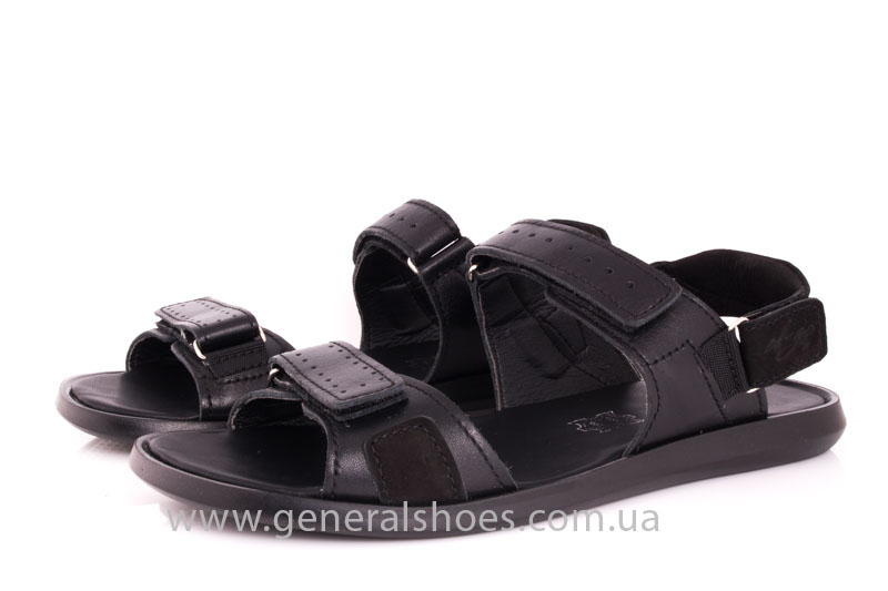 Мужские кожаные сандалии Ed-Ge S-5 blk фото 8