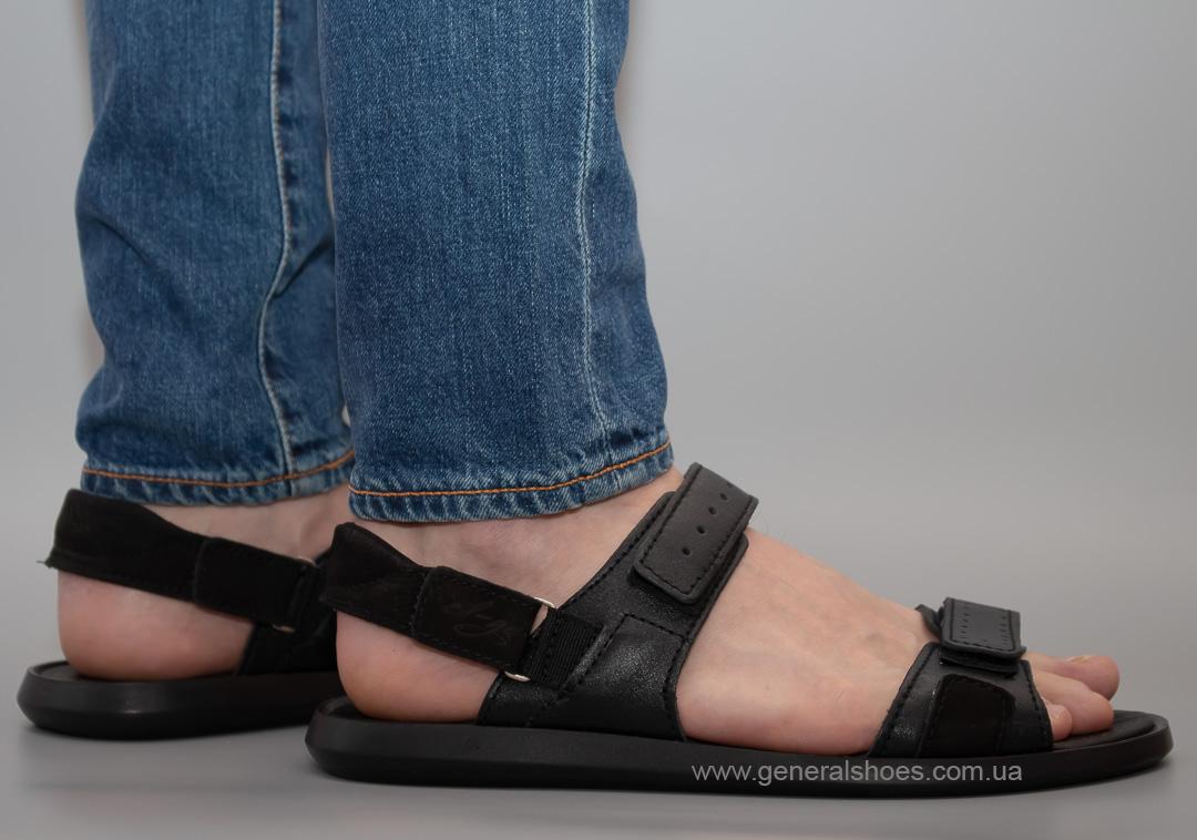 Мужские кожаные сандалии Ed-Ge S-5 blk