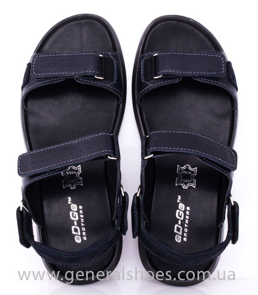 Мужские кожаные сандалии Ed-Ge S-5 blue фото 7