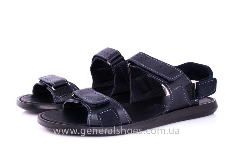 Мужские кожаные сандалии Ed-Ge S-5 blue фото 8